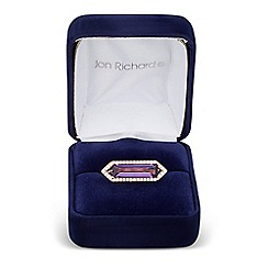 Jon Richard - Purple cubic zirconia baguette surround ring