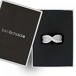 Jon Richard - Cubic zirconia embellished twist ring