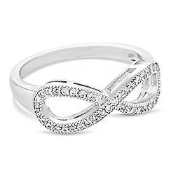 Jon Richard - Pave crystal infinity ring