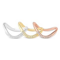 Jon Richard - Multi tone set of three stacking rings