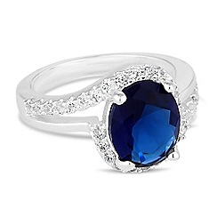 Jon Richard - Blue cubic zirconia statement ring