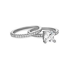Jon Richard - Silver stacker ring set