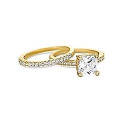 Jon Richard - Gold stacker ring set