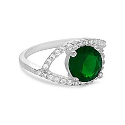 Jon Richard - Green pave surround ring