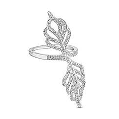 Jon Richard - Silver feather ring