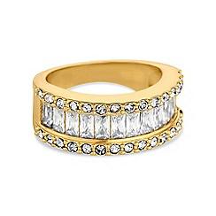 Jon Richard - Gold baguette stone ring