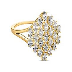 Jon Richard - Gold crystal cluster ring