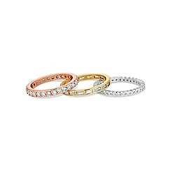 Jon Richard - Multi tone stacking ring set