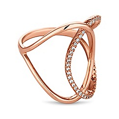 Jon Richard - Rose gold interlinked ring