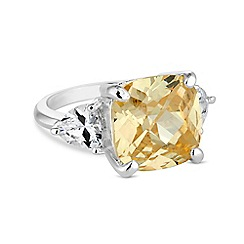 Jon Richard - Yellow cubic zirconia statement ring
