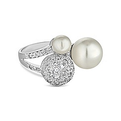 Jon Richard - Pave and pearl statement ring