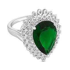 Jon Richard - Peardrop crystal surround ring