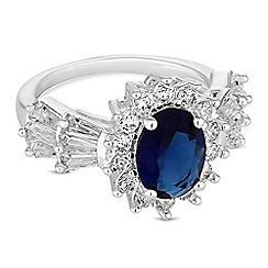 Jon Richard - Oval crystal cluster ring
