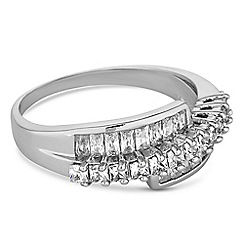 Jon Richard - Silver crystal twist ring