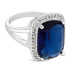 Jon Richard - Blue crystal surround statement ring