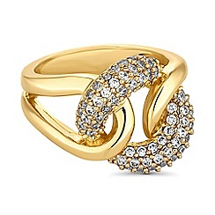 Jon Richard - Gold crystal knot ring