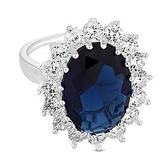 Jon Richard - Blue crystal kate ring