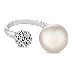 Jon Richard - Pearl and pave ball ring