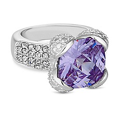 Jon Richard - Purple crystal square ring