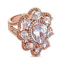 Jon Richard - Rose gold peardrop cluster ring