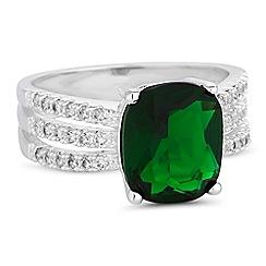 Jon Richard - Triple row crystal ring