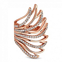 Jon Richard - Crystal open wing ring