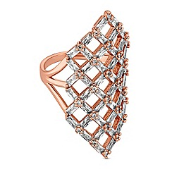 Jon Richard - Crystal cut out statement ring