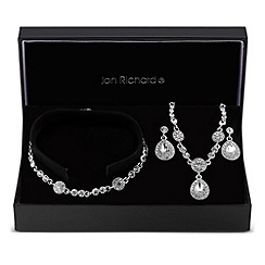 Jon Richard - Clara crystal peardrop trio jewellery set