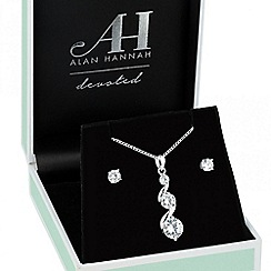 Alan Hannah Devoted - Designer cubic zirconia graduated triple drop jewellery set