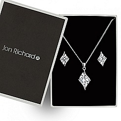 Jon Richard - Cubic zirconia swirl jewellery set