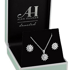 Alan Hannah Devoted - Silver starburst jewellery set