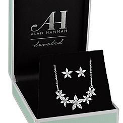 Alan Hannah Devoted - Silver floral jewellery set