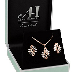 Alan Hannah Devoted - Rose gold navette jewellery set