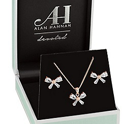 Alan Hannah Devoted - Rose gold bow jewellery set