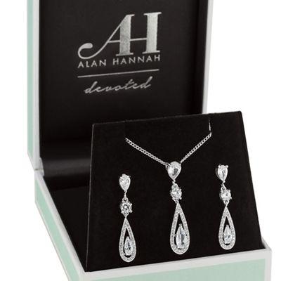 Alan Hannah Devoted Silver Elongated Pearl Jewellery Set Debenhams