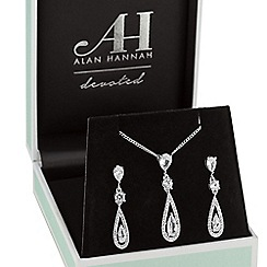 Alan Hannah Devoted - Silver elongated pearl jewellery set