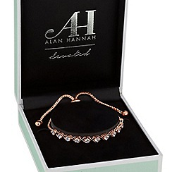 Alan Hannah Devoted - Rose gold cross over toggle bracelet