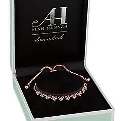 Alan Hannah Devoted - Rose gold cross over toggle bracelet