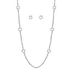 Jon Richard - Multi row ring link jewellery set