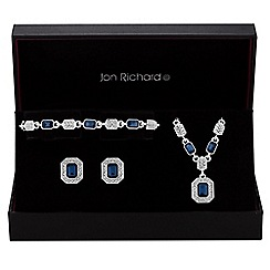 Jon Richard - Blue crystal square jewellery set