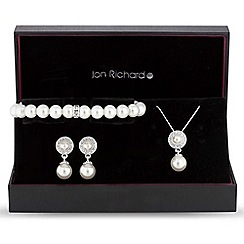 Jon Richard - Pearl disc jewellery set
