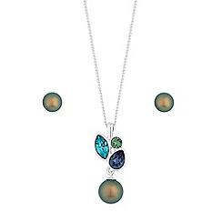 Jon Richard - Pearl and crystal jewellery set created with swarovski crystals