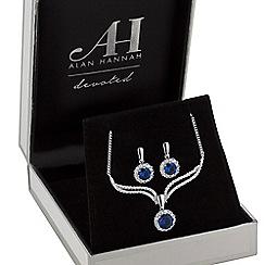 Alan Hannah Devoted - Designer halo drop jewellery set in a gift box