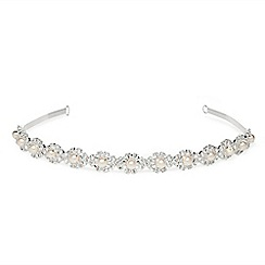 Jon Richard - Pearl and crystal lydia headband