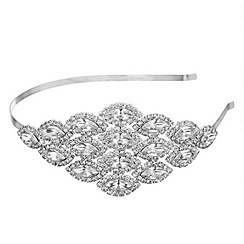 Jon Richard - Crystal diamante navette headband