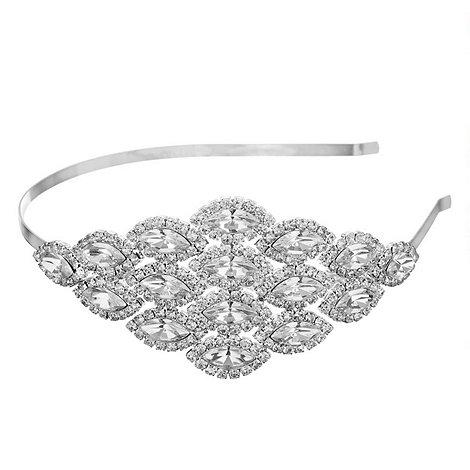 Jon Richard - Crystal diamante navette headband