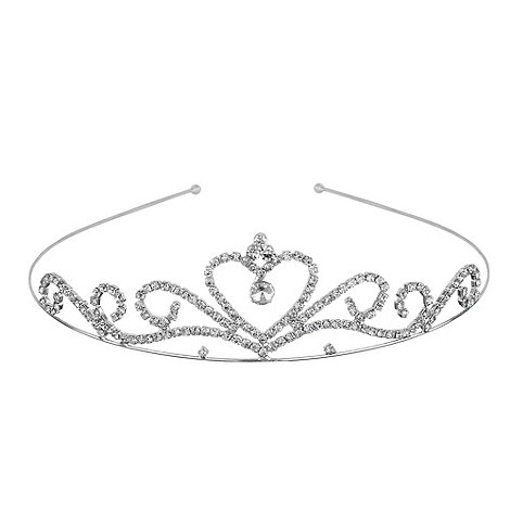 Jon Richard - Diamante crystal heart tiara