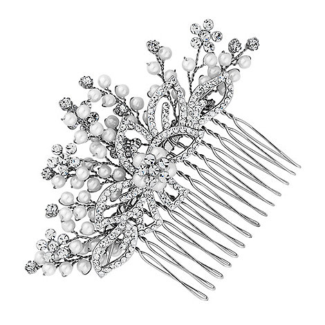 Jon Richard - Grace spray mini pearl flower comb