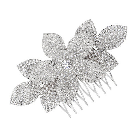 Jon Richard - Diamante crystal lotus flower comb