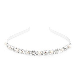 Alan Hannah Devoted - Crystal encased flower and pearl drop headband